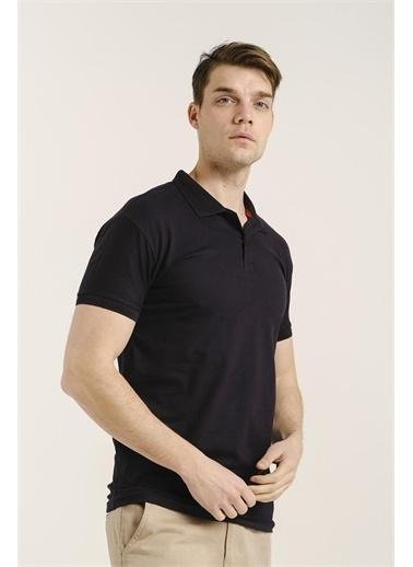 Oksit Alcott Polo Yaka Slim Fit Erkek Tshirt Lacivert